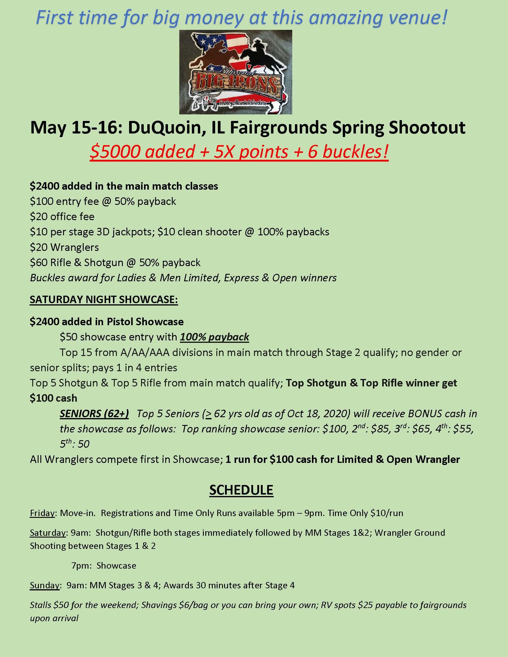 DuQuoin Spring Shootout