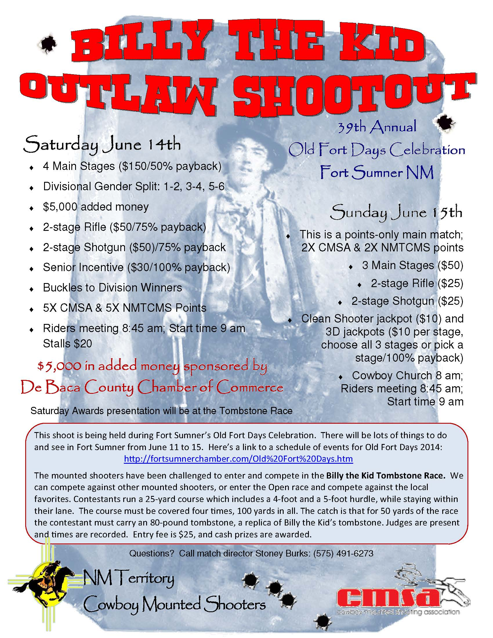 CMSA Billy The Kid Outlaw Shootout