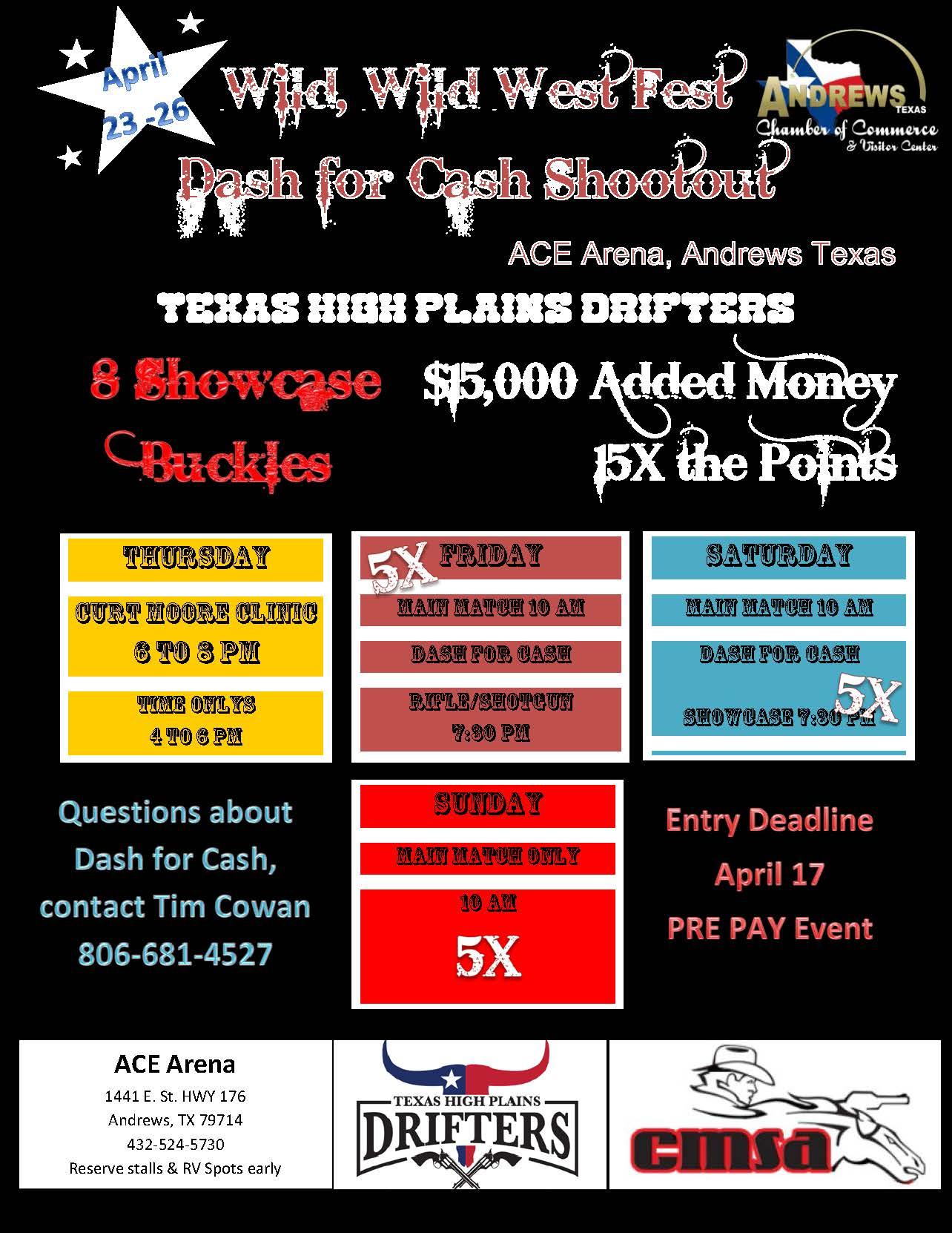 Wild West Fest Dash for Cash Extravaganza Shootout