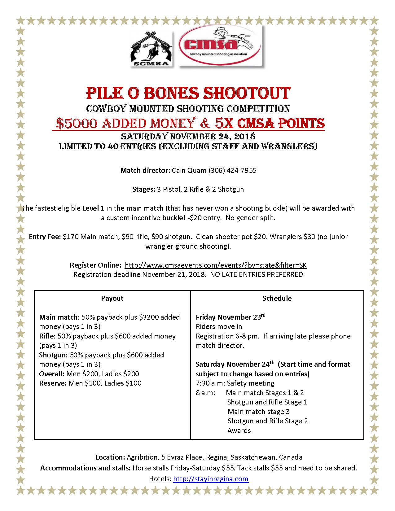 Pile O Bones Shootout