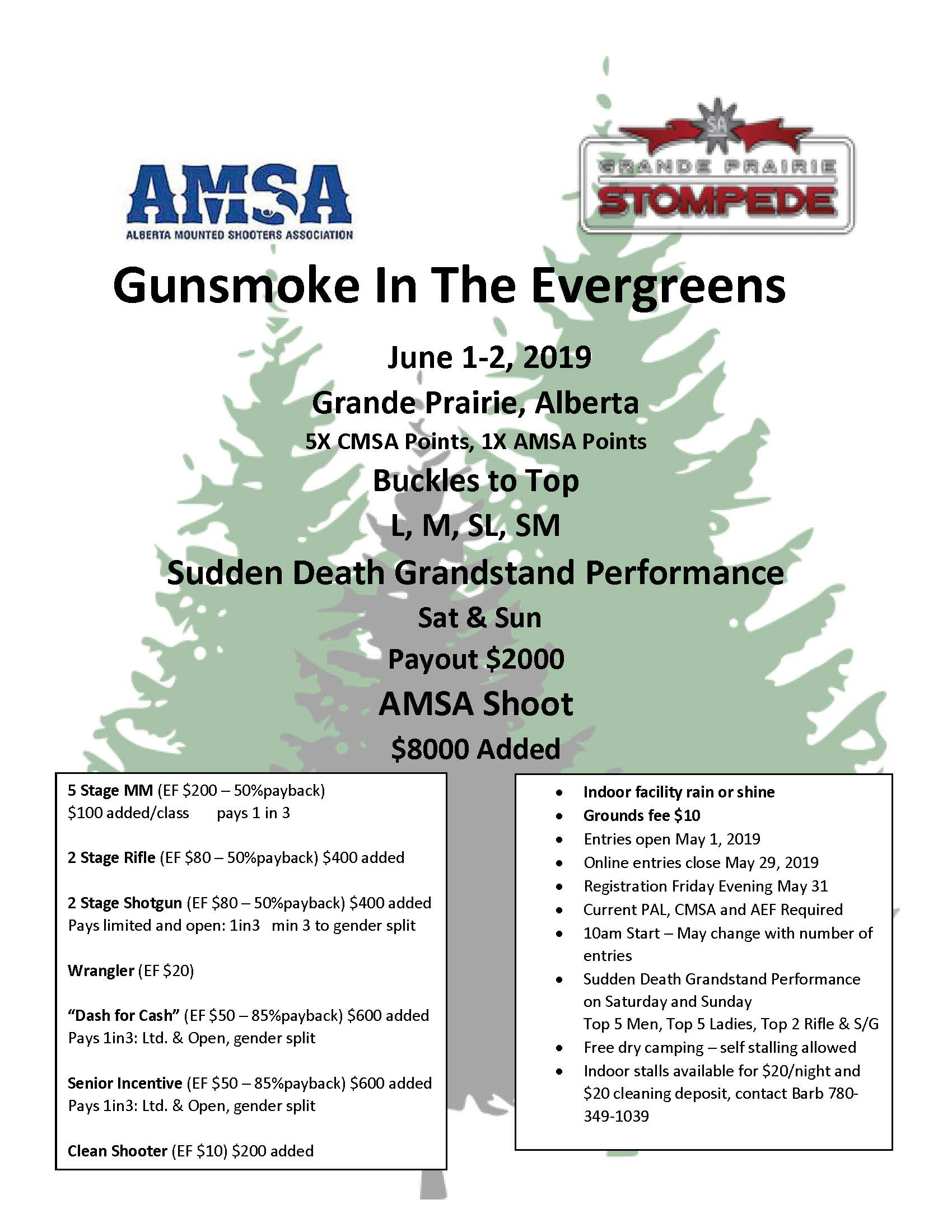 Gunsmoke in the Evergreens